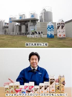 酪王乳業本社工場とシリーズ商品